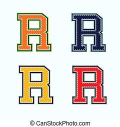 r, università, lettera