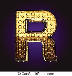 r vector golden letter