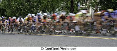 raça bicicleta, panarama