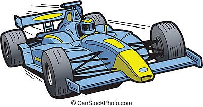 raça carro, acelerando