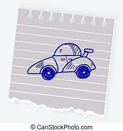 raça carro, doodle