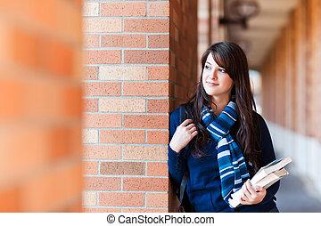 raça misturada, estudante universitário