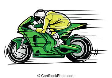 raça, moto