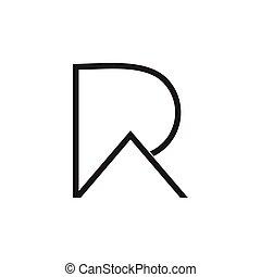 ra, ロゴ, 線, 単純である, パパ, ∥あるいは∥, 抽象的, 手紙