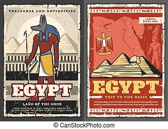 ra, egypte, oud, piramides, god, cairo, feniks, vogel