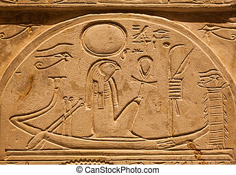 Ra on limestone - Ra or Re is the ancient Egyptian solar...