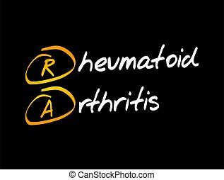 RA - Rheumatoid Arthritis acronym, medical concept background