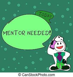 raad, hoofd, smartphone, het tonen, zakelijk, stropdas, foto, sticker, noodzakelijk, needed., opleiding, style., aantekening, leiding, mentor, vasthouden, showcasing, schrijvende , steun, man