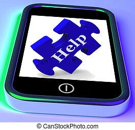 raad, smartphone, helpen, optredens