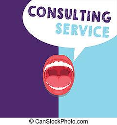 raadgevend, concept, service., derde, tekst, schrijvende , aanbiedingen, betekenis, honorarium, vakman, feestje, handschrift, kennis