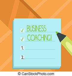 raadgevend, concept, woord, deskundig, zakelijk, tekst, ervaring, schrijvende , akker, improvement., coaching., jouw