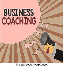 raadgevend, concept, woord, deskundig, zakelijk, tekst, werknemers, schrijvende , portie, coaching., actief, worden, meer