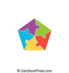 raadsel, jigsaw, kleurrijke, achtergrond, stukken