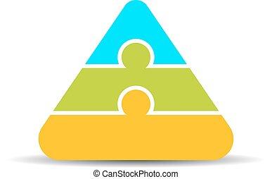 raadsel, layered, piramide