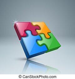 raadsel, logo., infographics., zakelijk