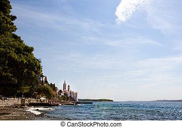 Rab Croatia Coast - The coast of the old city of Rab,...