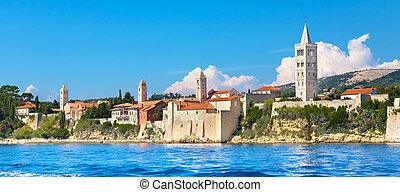 Rab town, Mediterranean, Croatia, Europe - Famous touristic ...