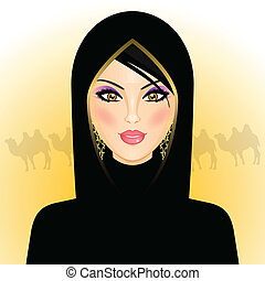 rab woman in the desert