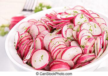 rabanete, salada