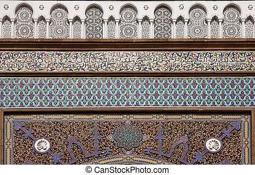 rabat, 皇家的宫殿, 在中, 摩洛哥