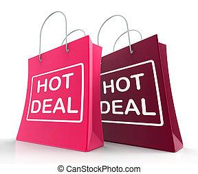 rabatter, forevise, hede, shopping bags, deal, aftalerne