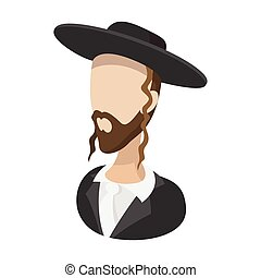 Rabbi cartoon icon