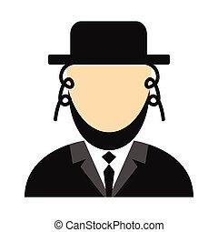 Rabbi flat icon