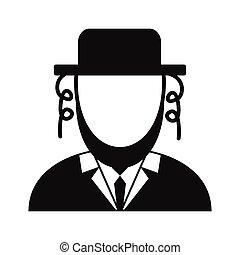 Rabbi simple icon
