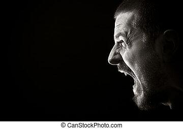 rabbia, grido