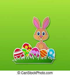 Rabbit and Easter egg