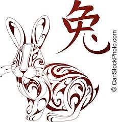 Rabbit as symbol for Chinese zodiac