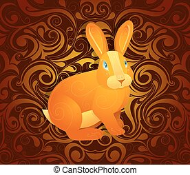 Rabbit as symbol for year 2023