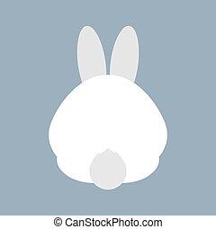 Rabbit Bottom Vector Illustration