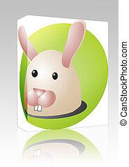 Rabbit cartoon box package