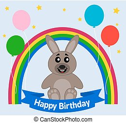 rabbit celebrating a birthday