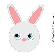 rabbit cute animal character farm