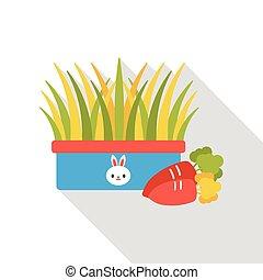 rabbit food flat icon