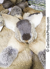 Rabbit fur hat, fashion and accessories