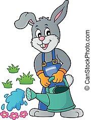 Rabbit gardener theme