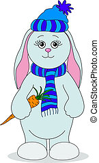 Rabbit girl with a carrot