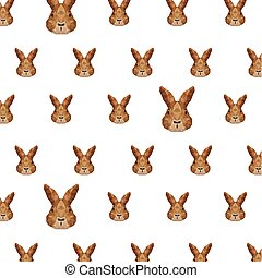 rabbit head pattern low poly isolated icon