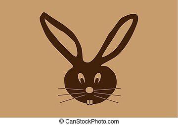Rabbit - head - vector