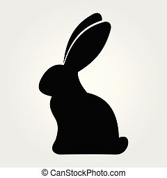 Rabbit icon isolated on white background. Vector illustration