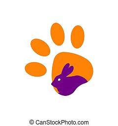 Rabbit icon isolated on white background