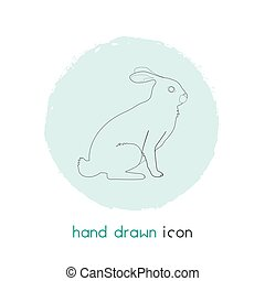 Rabbit icon line element. Vector illustration of rabbit icon line isolated on clean background for your web mobile app logo design.