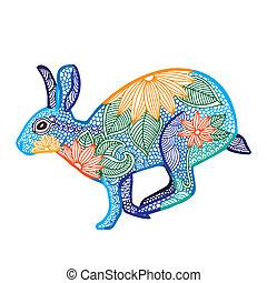 Rabbit illustration- Chinese zodiac