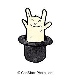 rabbit in hat cartoon