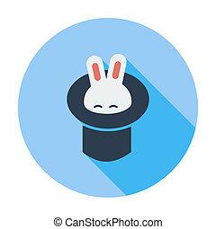 Rabbit in magician hat.