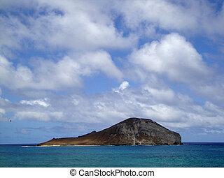 Rabbit Island in Waimanalo Bay off the coast of Oahu, Hawaii