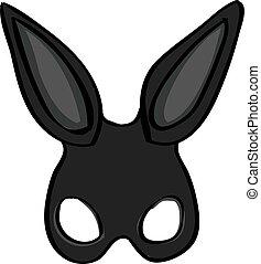 Rabbit mask, illustration, vector on white background.